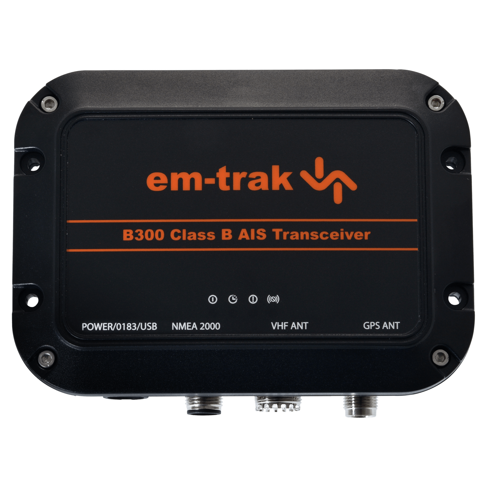The em-trak B300 is a small, ruggedized AIS Class B that is ideal for small commercial and leisure boats of any size looking for a robust and reliable AIS Class B that seamlessly connects to any MFD, display system or APP.